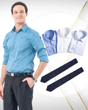 Summer 2014 Image Builder - 4 Cotton Shirts and 2 Neckties custom made to measure from our Heritage Gold Collections