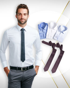 Four Shirts and 2 Neckties from our Heritage Gold