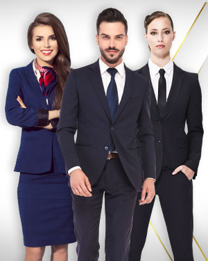 1 Pant Suit, 1 Skirt Suit, 1 Mens Business Suit and 1 Necktie 2 Silk Scarfs from our Classic Collections