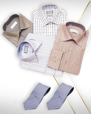 Four Shirts and 2 Neckties from our Premium Collection