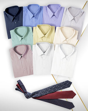 Ten Shirts and 3 Neckties from our Premium Collection