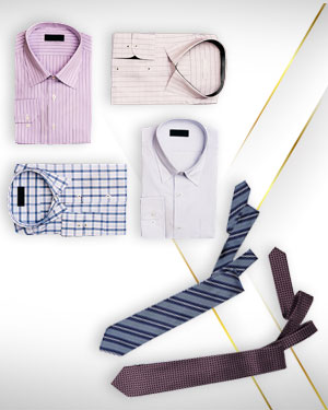 Heritage Gold Dress Shirts - Four Top of the Range Business Shirts and 2 Neckties