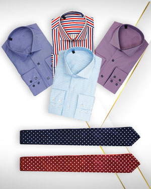 4 Custom made Mens Shirts and 2 Neckties from the classic collections - For Style Forum members only! - Free Shipping