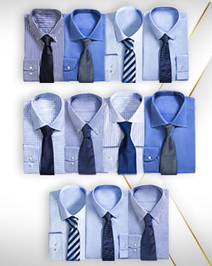 The Bakers Ten - Eleven shirts for the price of Ten plus seven woven neckties to match