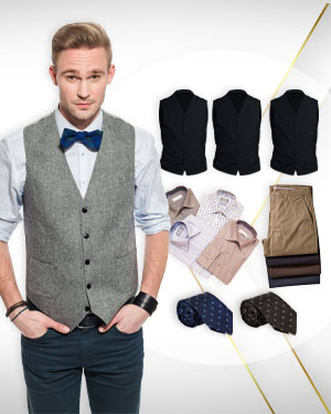 Summer Special - 4 Vests, 4 Pants, 4 Shirts and 2 Silk neckties from our Premium Collections