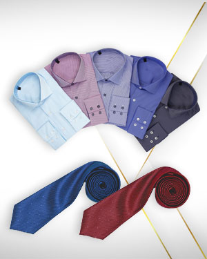 Summer Special - Five Shirts and 2 Neckties from our CLASSIC COLLECTIONS