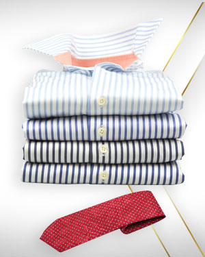 Summer Special Four Evening Dress Shirts and 1 Necktie from the PREMIUM COLLECTIONS