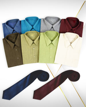 Summer Special Eight Shirts and 2 Neckties from our Premium
