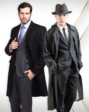 Winter Executive Wear Mens - 2 Top Coats and 2 Belts from our Mens DELUXE COLLECTIONS