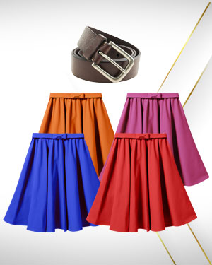 Summer Skirts Offers - 4 Skirts  1 Belt our Womens Classic Collection