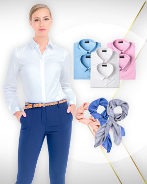 6 Womens Shirts and 3 Scarfs from our Classic Collections