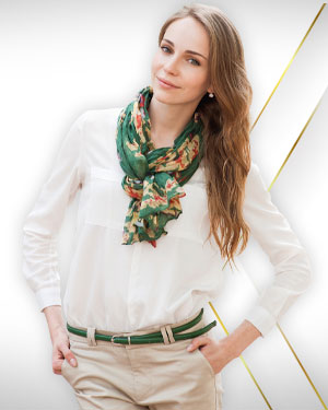 3 Blouses, 3 Pants and 3 Scarfs from our Classic Collections