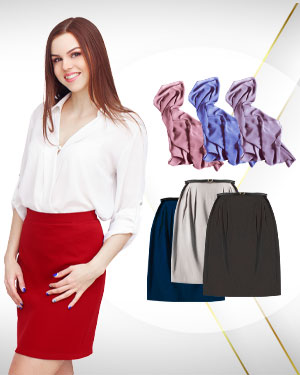 3 Blouses, 3 Skirts and 3 Scarfs from our Classic Collections