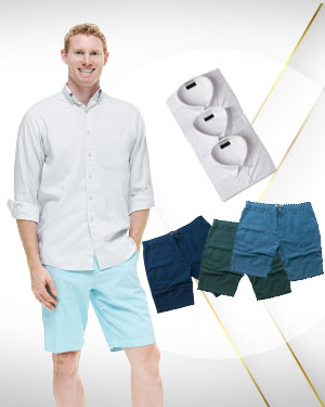 WFH 3 Custom made Dress Shorts & 3 Custom Dress Shirts for men