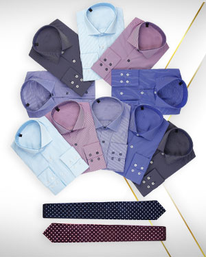 Summer Cotton Shirts - 10 Cotton Shirts and 2 Neckties from our Classic Collections