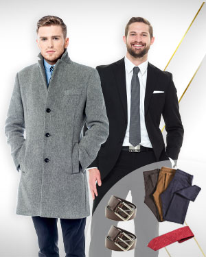 Suited In the Court of Law - 1 Overcoat, 1 Single Breasted Suit, 3 Pants with 2 Belt and 1 Neckties from our Classic Collections