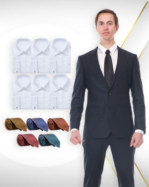 Spring and Summer Wardrobe - 6 Single Breasted Suits, 6 Cotton Shirts and 5 Neckties from our Classic Collections