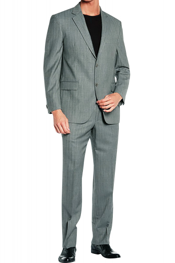 Crafted from the finest Italian wool and cashmere this suit is an elegant unification of a classic two-button suit jacket with rolled notch lapels and flat front suit pants with slash pockets and skillfully hand sewn cuff hems.