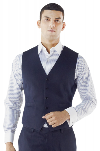 Add a layer of style to any spring-summer look with this fully lined 5-button single-breasted waistcoat. Cut with slim fit style, this lightweight layering piece features welted pockets, adjustable back belt and pointed bottom.