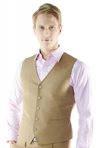 Liven up your look with this custom made five-button vest waistcoat. Cut to a slim fit, this striking single-breasted layering made to measure vest features welted pockets, high gorge, v-neck and tailored fabric covered back.