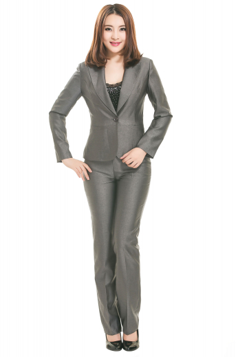 With ultra slim jackets featuring hand sewn peak lapels and gorgeous custom made pants with flat fronts, these bespoke pant suits are comfortable office formals. Jackets display hand stitched lower welt pockets and hand molded shoulders. Bootcut tailor made pants with unfinished bottoms remain secure with zipper fly and hook buttons on the waistband.