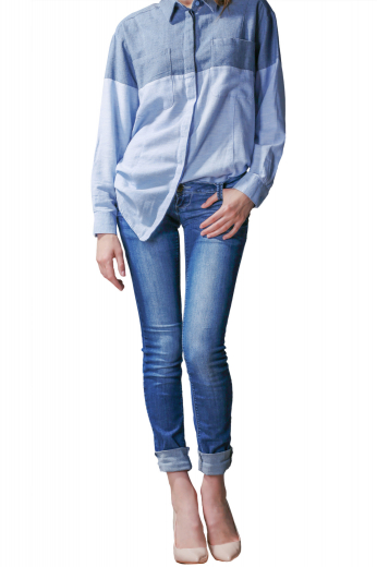 Style no.15790 - This womens custom made blue denim jeans is a stunning casual that you can buy at affordable rates at My Custom Tailor. This womens tailor made slim fit washed jeans has 5 levi style front pockets, a zipper fly, and extended belt loops. This womens bespoke low waist jeans also features an extended waistband with a button. You can wear this womens handmade full length denim jeans to night outs, parties, as well as a day out with your friends.