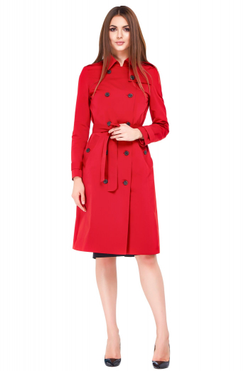 This must buy super classy womens custom made red blood overcoat in wool comes from the range of handmade luxury garments at My Custom Tailor. This super affordable womens tailor made double breasted red topcoat has 10 front buttons with 5 to close and 1 epulatter on both the shoulders. This womens bespoke knee length red overcoat also features 2 slanted double track stitched lower pockets and buttoned epaulettes on both the cuffs. You can wear this trendy womens custom made red wool topcoat for a fashionable look.