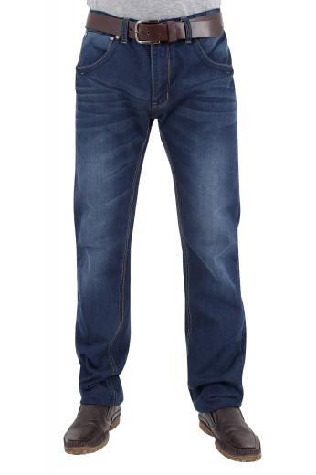 These must buy mens tailor made stonewashed denim jeans are enticing casuals that you can wear with mens custom made dress shirts for a semi-formal look as well. These mens slim fit dark blue denim jeans with 5 levi style front pockets also feature extended belt loops for added comfort. These mens handmade slim fit stonewashed denim jeans with a zipper buy are available at My Custom Tailor at super attractive rates.