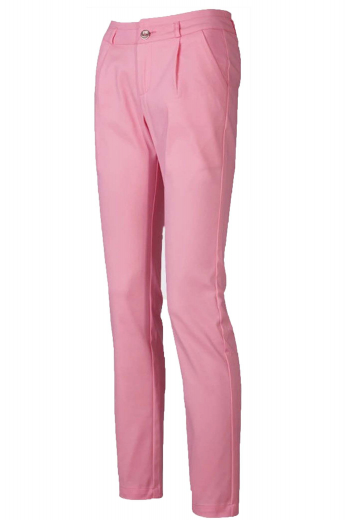 These gorgeous womens bespoke cotton made golf pants in rose pink is a stylish sportswear for classy women. With a chic vibe and a slim cut fitting, these womens handmade rose pink dress pants feature a single standard reverse pleat pattern, 2 slash pockets in the front, 2 welted back pockets, and a classic two point hook and button closure with a zipper fly. You can buy these flattering womens made to order cotton pants at My Custom Tailor to befriend a stylish look, that too within your budget.