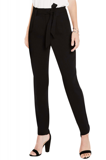 These womens tailor made black pants in Egyptian cotton are elegant formals for you if you like simplicity as much as comfort. These womens bespoke slim fit pants have a box front pleated pattern that is creatively styled with 2 beautifully hand stitched on-seam pockets at the front and a zipper fly for front closure. These womens made to order pants also have extended belt loops to increase the comfort quotient. Look every bit sophisticated in these womens bespoke suit pants available at My Custom Tailor at affordable rates.