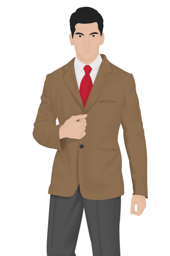 Style no.16205 - Step out with confidence in this custom made standard length slim cut men's vintage jacket made in a gorgeously stylish brown shade. This handmade vintage jacket expertly made by professional tailors features a flattering single breasted two-button design and skillfully hand sewn double piped pockets.