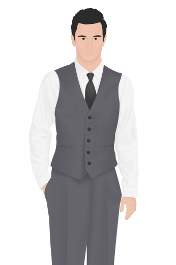 Style no.16209 - Here's a sophisticated v-neck vest hand tailored for the classy man. This custom made men's vintage waistcoat with a single breasted design features an elegantly chic five button closure, skillfully piped pockets, and no lapels to add a corporate feel to any look. This vintage tailor made vest will go well with any formal suit.
