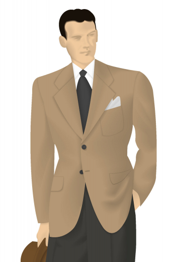 Order online this made to measure men's two-button suit jacket with outstandingly beautiful features such as a single breasted two-button design with notch lapels. This custom made suit jacket has standard pockets with flaps and standard welt pocket that are quite flattering and stylish. This vintage hand tailored jacket is a must buy!