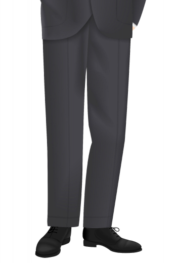 Style no.16258 - Step out in this highly sophisticated pair of men's hand tailored suit pants with the classic flat front design. This custom made suit pants has great features such as two point button and hook closure, a flattering slim cut pair of pants, front slash pockets, back pockets, beautifully hand-stitched belt loops and so on.