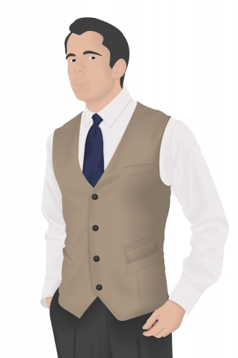 Style no.16265 - This truly uniquely designed made to measure men's vintage vest with a grand and adventurous four button, four pocket design is fabricated to make you look smart and confident. It's a custom made men's vintage vest that's gorgeously hand tailored with slim cut single breasted composition. Made of grand fabrics, this classic v-neck will pair well with any formal men's suit.