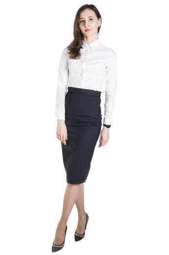 This beautifully custom made pencil skirt is a perfect option to mix and match with any of your blouses, sure to become a staple in your office wardrobe.