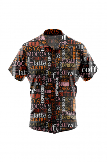 Fancy Mens Short Sleeve Shirt for Coffee Lovers for Summer Casual Wear