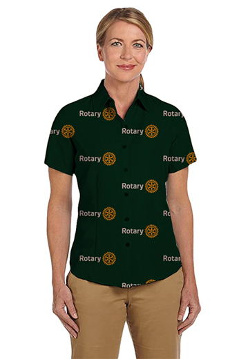 A women's custom tailored club shirt with a flattering and comfortable standard cut, this tailored shirt also features a classic Hawaiian collar with a front and back single dart. This tailored shirt also features standard tails and a standard yoke. This is a great addition to any club collectors closet.