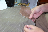 Melton is applied under the collars for a soft natural roll to the neck