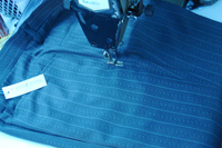 Outer seams are double edge sewn to give a finished look